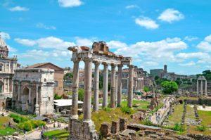Rzym - widok na Forum Romanum z Kapitolu