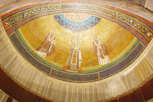 Rzym - bazylika św. Agnieszki za Murami - mozaika w absydzie