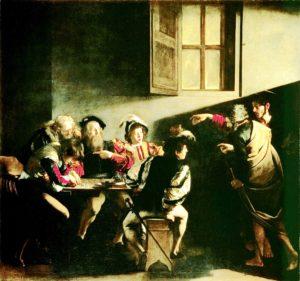 Rzym barokowy - Caravaggio - Powołanie św. Mateusza