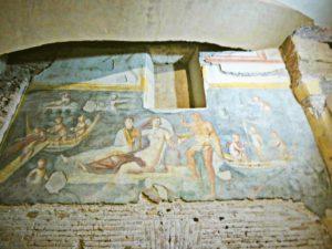 Rzym zabytki - domy antyczne na wzgórzu Celio - freski