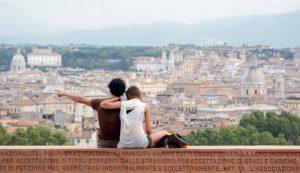 Rzym - panorama miasta ze wzgórza Ganicolo