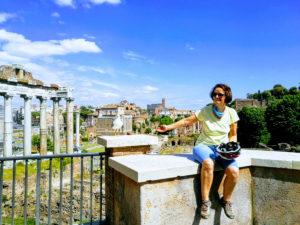 Rzym - taras widokowy na Forum Romanum