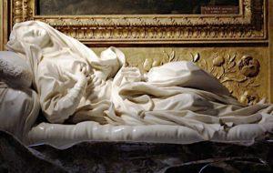 """Zatybrze - kościół San Francesco a Ripa - rzeźba Berniniego """"Ekstaza bł. Ludwiki Albertoni"""""""