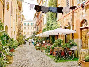 Rzym - dzielnica Zatybrze - ulica