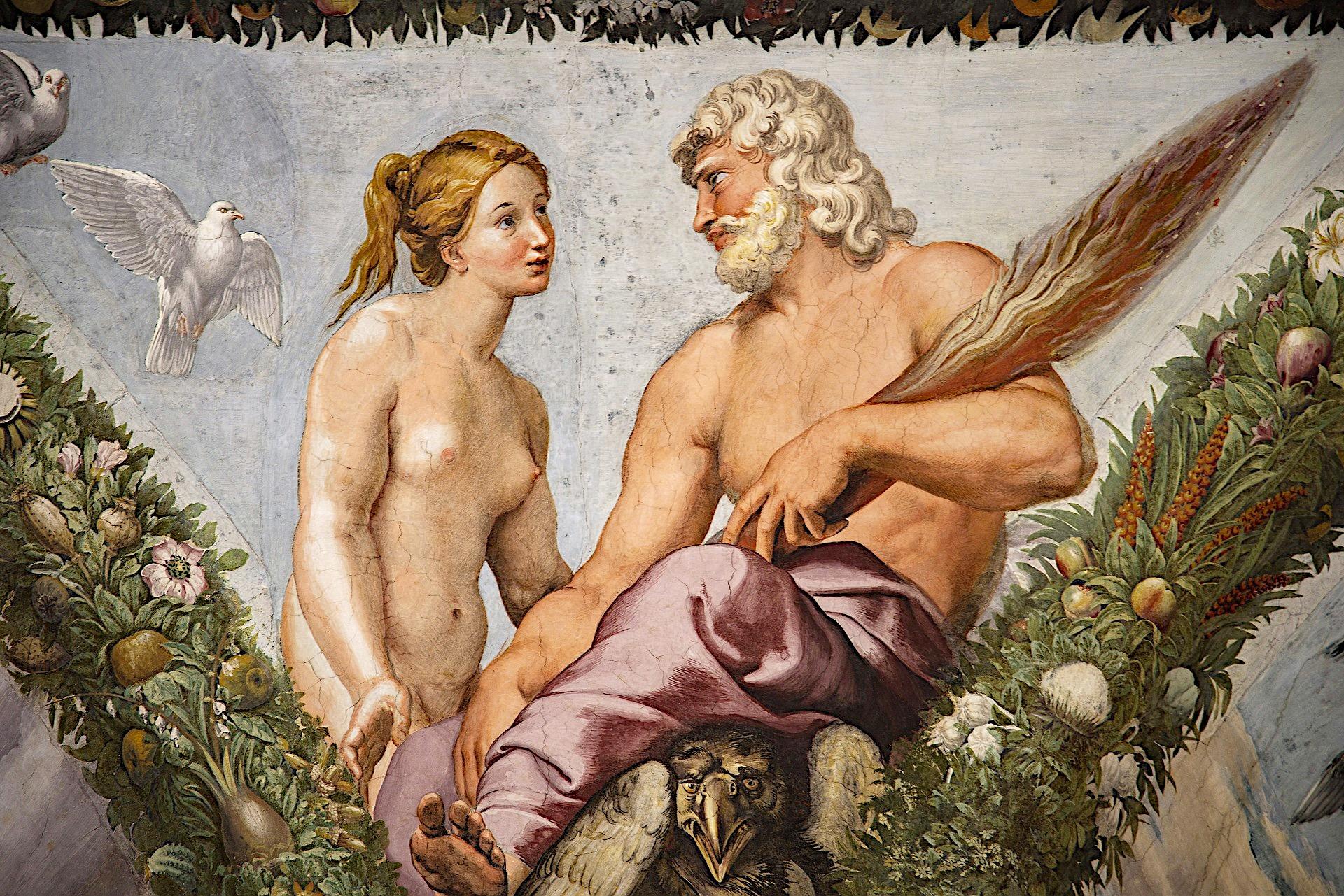 Zatybrze - Villa Farnesina - fragment fresku