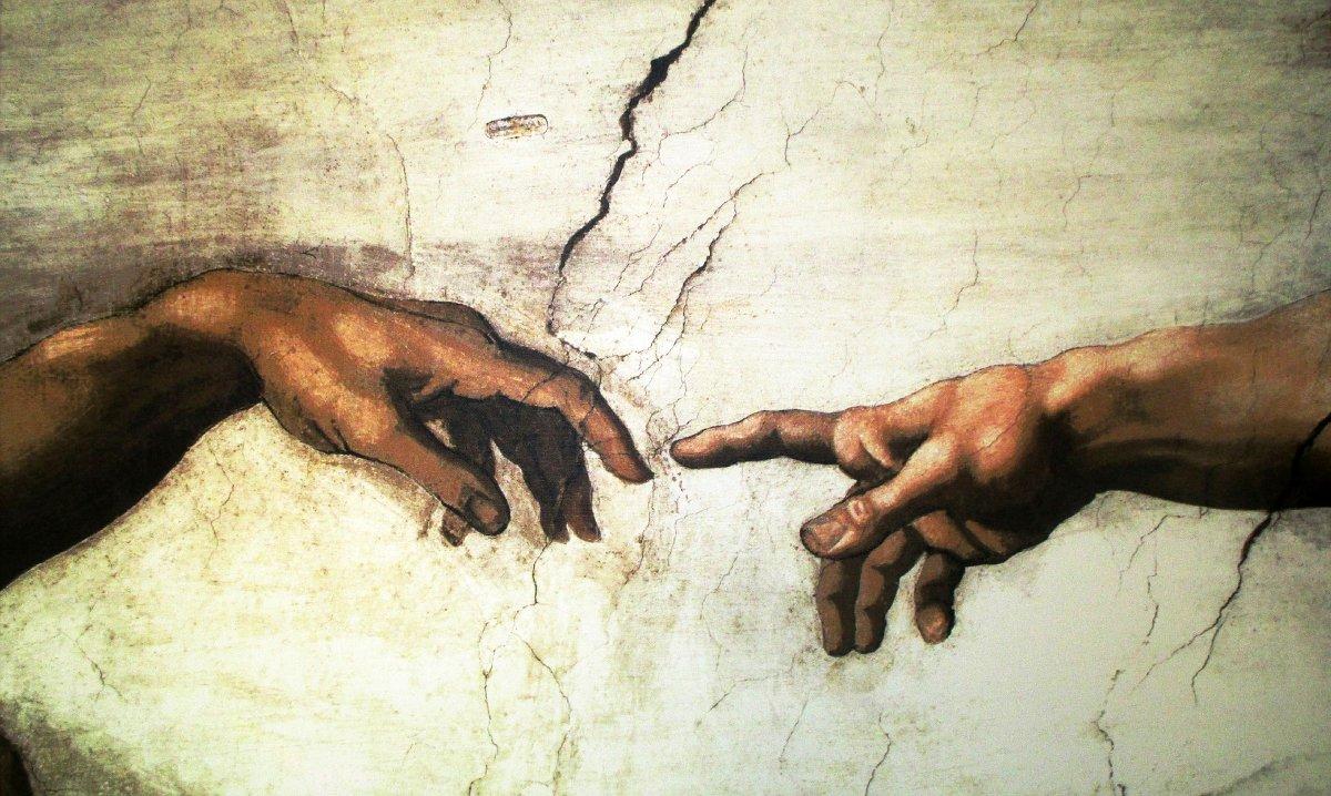"""Watykan wycieczka - Kaplica Sykstyńska - fragment fresku """"Stworzenie Adama"""""""